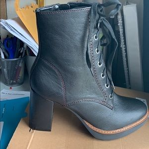 Naturalized Callie Black Leather Booties (Macy's)
